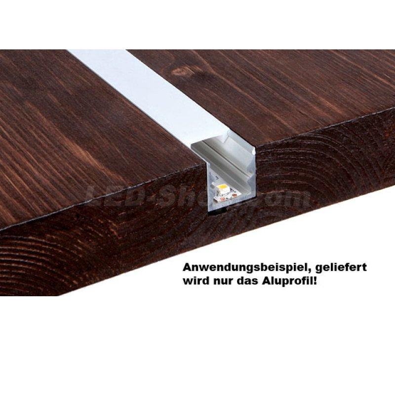 16 x 16mm alu led profil s line 2m silber 11 60. Black Bedroom Furniture Sets. Home Design Ideas