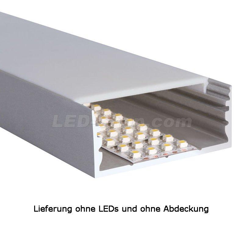 60 x 25mm alu led profil l line 2m silber 30 90. Black Bedroom Furniture Sets. Home Design Ideas