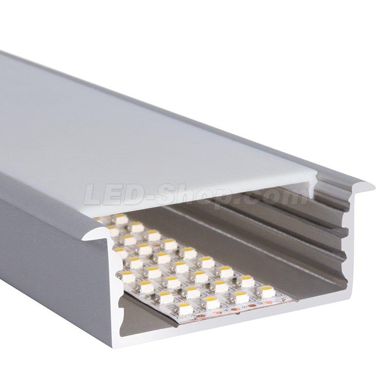 72 x 26 5mm alu led profil l line rec 2m silber 36 20 - Profile alu led ...
