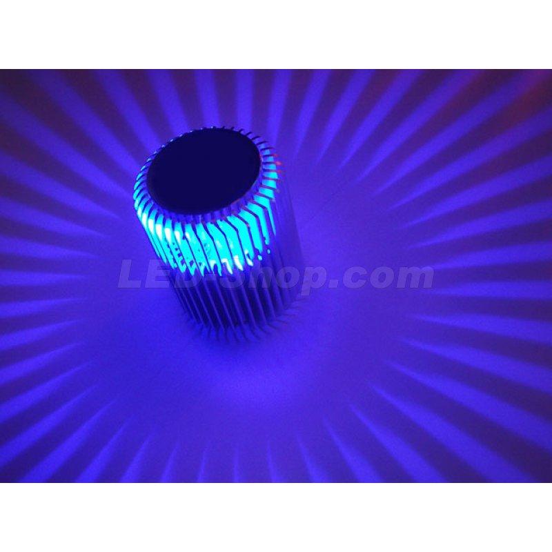 Led wandlampe pluto blau 17 85 for Led wandlampe