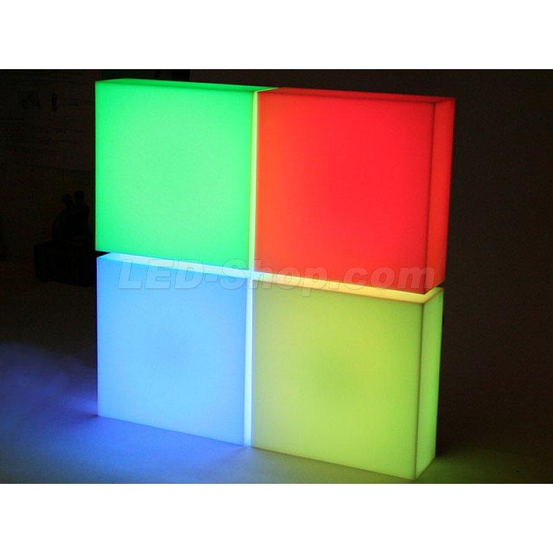 mofi flat panel 4er set 20cm led wand 89 00. Black Bedroom Furniture Sets. Home Design Ideas