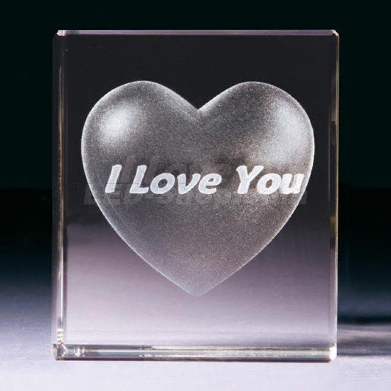 3d kristallglas herz i love you 22 90. Black Bedroom Furniture Sets. Home Design Ideas