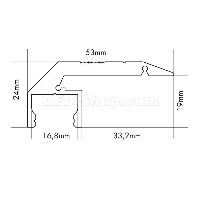 2m aluprofil treppenstufe step down s line 35 95. Black Bedroom Furniture Sets. Home Design Ideas