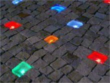 Road stones with led-light