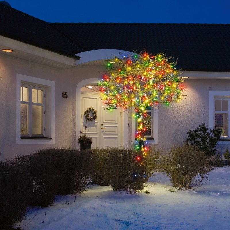 lichterkette multicolor 80 leds 5m mit farbwechseln 27 90. Black Bedroom Furniture Sets. Home Design Ideas