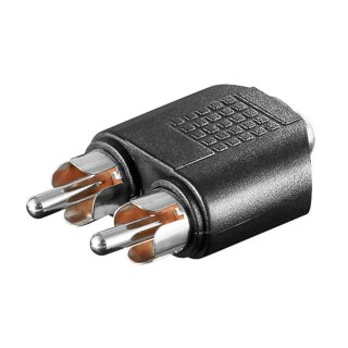 cinch adapter 3 5mm klinke stereo 0 46. Black Bedroom Furniture Sets. Home Design Ideas