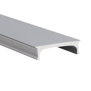 Muster Cover flach Aluminium M-Line silber