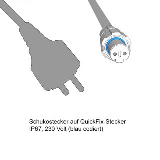 LED-Main-Connector 1,5m schwarz Quickfix