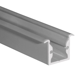 Muster 20 x 16mm Alu LED-Profil REC S-Line silber