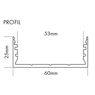 LED-Profil Komplett-Set L-Line