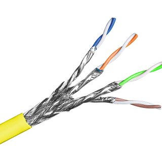 ZA-TEC Cat.7 Datenkabel 4X2XAWG23 gelb Meterware